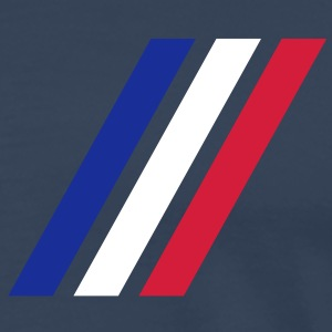 france stripe flag T-Shirts - Männer Premium T-Shirt