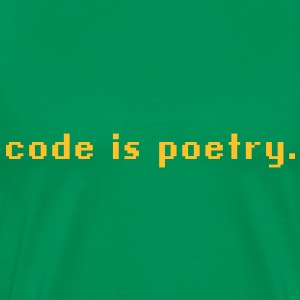 code is poetry T-Shirts - Männer Premium T-Shirt