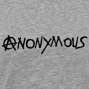 logo anarchy anonymous1 Tee shirts - T-shirt Premium Homme