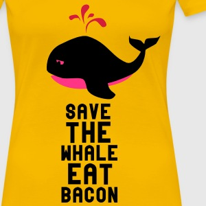 Save The Whale Eat Bacon T-Shirts - Women's Premium T-Shirt