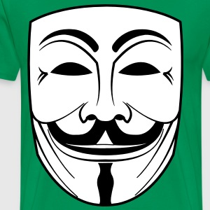guy fawkes mask T-shirts - Herre premium T-shirt