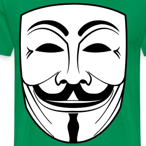 guy fawkes mask T-Shirts - Men's Premium T-Shirt