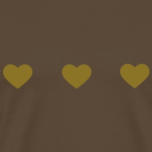 three hearts T-Shirts - Men's Premium T-Shirt