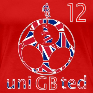 GB union football soccer 12 women's t-shirt - Women's Premium T-Shirt