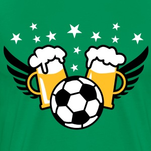 FUSSBALL-Party + Mass Bier Alkohol T-Shirt Herren - Männer Premium T-Shirt