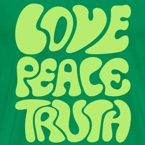 Love Peace Truth * Lifestyle 70s T-Shirts Goa T-shirts - Herre premium T-shirt