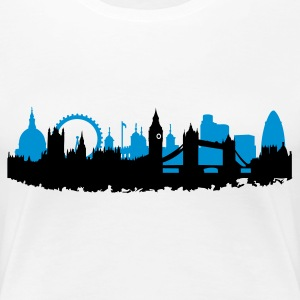 London Skyline - Frauen Premium T-Shirt
