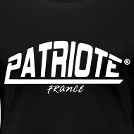 Motif ~ Tee-shirt noir PATRIOTE FEMME
