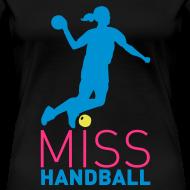 Motif ~ Tee-Shirt noir Miss Handball