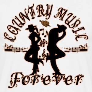 country music forever Tee shirts - T-shirt Homme