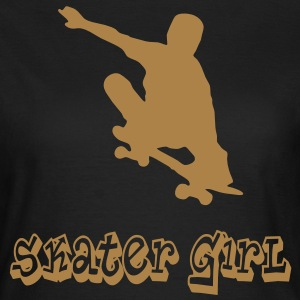 skater girl graffiti style T-shirts - Vrouwen T-shirt