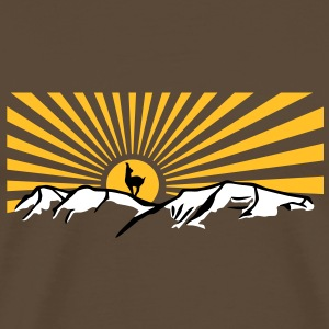 Mountains with sun and chamois T-shirt Tshirt T-Shirts - Men's Premium T-Shirt