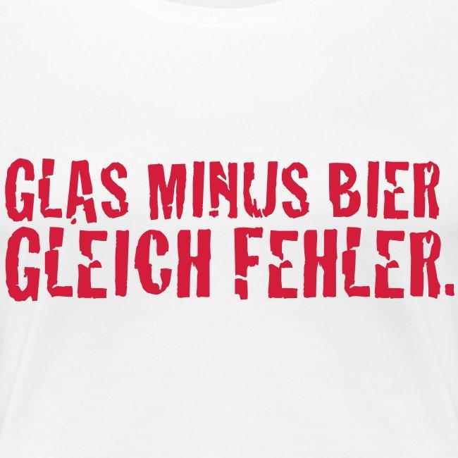 Glas minus Bier Girlie weiss