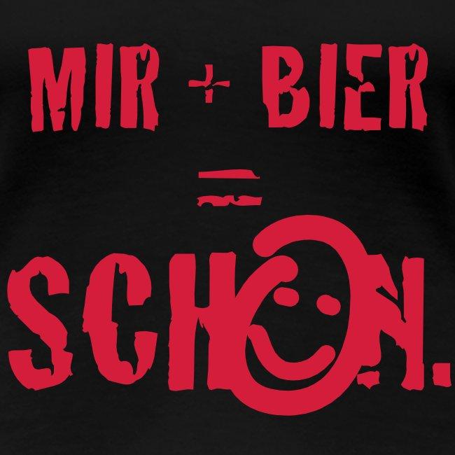 Mir + Bier Girlie schwarz