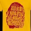 Fingerprint DNA (red) - Herre premium T-shirt