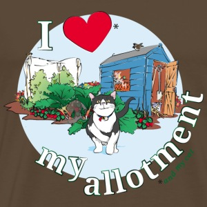 I 'love' my allotment T-Shirts - Men's Premium T-Shirt