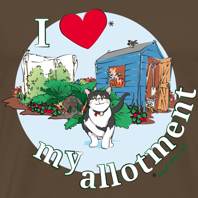 I love my allotment * and my cat