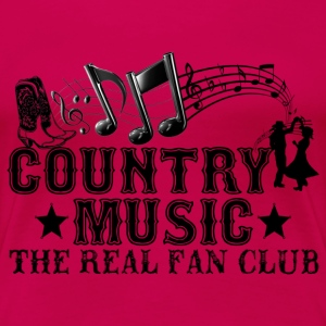 country music the real fan club T-Shirts - Women's Premium T-Shirt