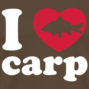 I Love Carp Fishing brown - Männer Premium T-Shirt
