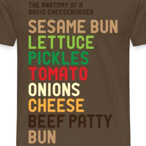 The Anatomy of a Hamburger - Men's Premium T-Shirt
