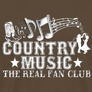 country music the real fan club T-Shirts - Men's Premium T-Shirt