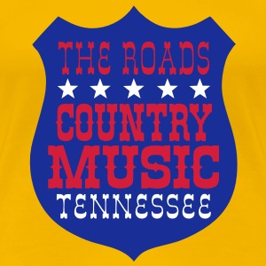 the roads country music tennessee T-Shirts - Women's Premium T-Shirt