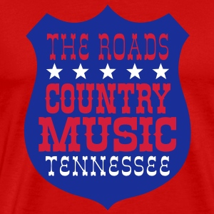 the roads country music tennessee Tee shirts - T-shirt Premium Homme
