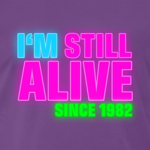 NEON - Birthday - still alive since 1982 (uk) Camisetas - Camiseta premium hombre