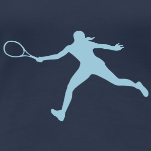 Tennis player, Tennis - Women's Premium T-Shirt
