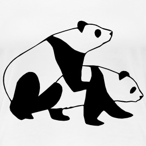 Panda Sex Design T-Shirts - Frauen Premium T-Shirt