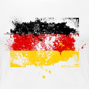 Germany flag banner urban grunge graffiti style German pride T-Shirts - Women's Premium T-Shirt