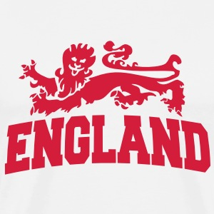 england with lion T-skjorter - Premium T-skjorte for menn