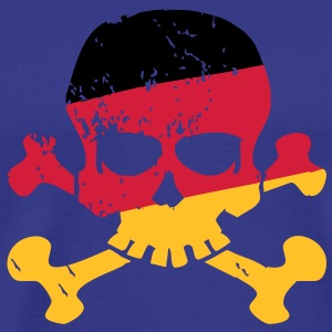 German Flag Skull T-shirts - Herre premium T-shirt