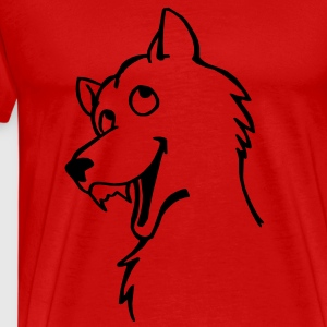 Loup Tee shirts - T-shirt Premium Homme