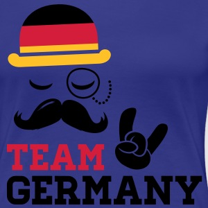 Germany team fashionable championship winner gold medal olympics football flag moustache T-Shirts - Women's Premium T-Shirt