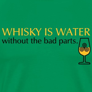 Whisky is water, bicolor Tee shirts - T-shirt Premium Homme