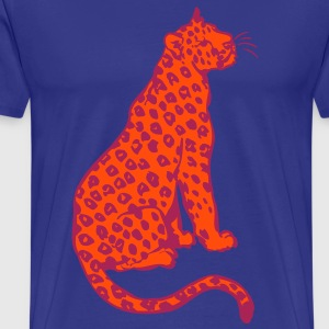 Siddende Leopard ved Cheerful Madness!! T-shirts - Herre premium T-shirt