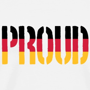 Proud Germany Flag, Proud to be German - Men's Premium T-Shirt