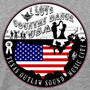i love country dance usa T-Shirts - Men's Premium T-Shirt