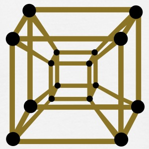 Hypercube 4D - TESSERACT , digital, Symbol - Dimensional Shift, Metatrons Cube,  T-skjorter - T-skjorte for menn