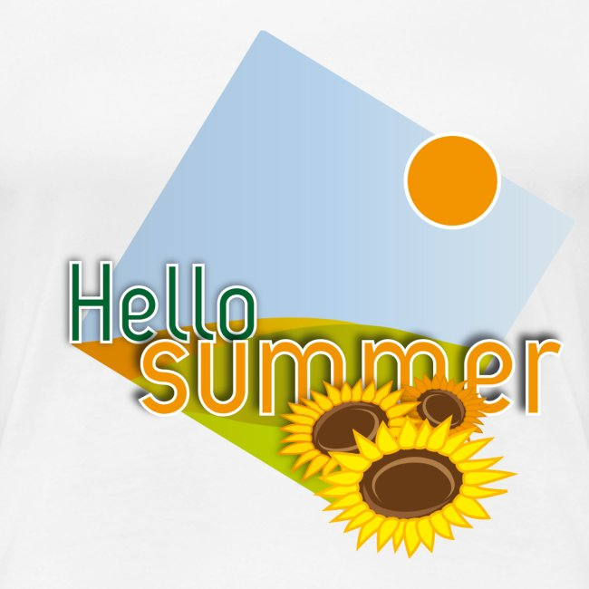 "T-shirt donna ""Hello Summer"""