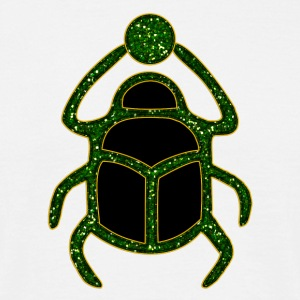 Scarab Amulet for Strength & Courage / Protection Amulet, green / T-skjorter - T-skjorte for menn