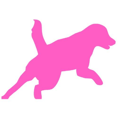 Apportering till vardag och fest rosa hund