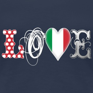 Love Italy White - Frauen Premium T-Shirt