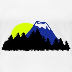 Landscape, Mountain, Wood, Forrest, Sun - Women's Premium T-Shirt