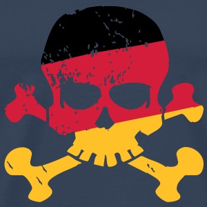 German Flag Skull T-shirts - Mannen Premium T-shirt