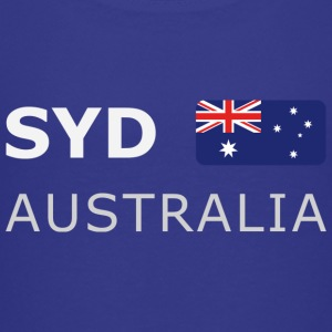 Teenager T-Shirt  SYD AUSTRALIA white-lettered - Premium T-skjorte for tenåringer
