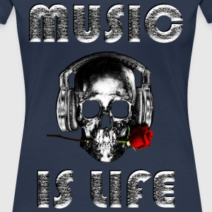 Music is life  - Dame premium T-shirt