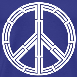 Mens Tribal tattoo peace sign T-shirt - Men's Premium T-Shirt