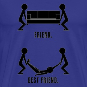 Friends Vs. Real Friends - Men's Premium T-Shirt